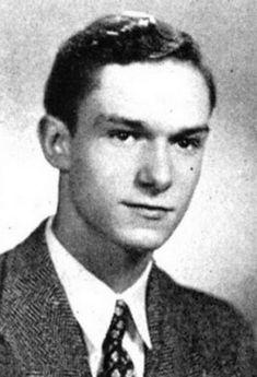 Young Hugh Hefner yearbook picture