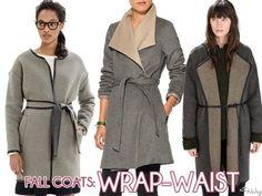 Fall Coats: Wrap-Waist