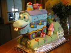 #Ahooga! Chloe Smith posted this super picture of The GiggleBelly Train cake made for Adelaide's 1st Birthday!! Woot! Woot!  #GBbirthday