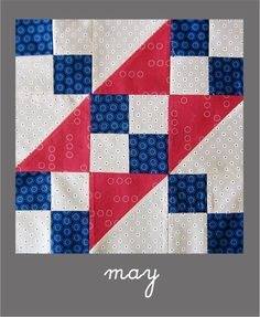 may newbee by Jess @ stitched in thyme, via Flickr