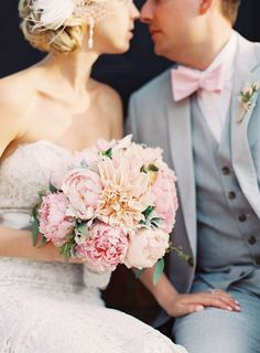 Gray and pink wedding inspiration