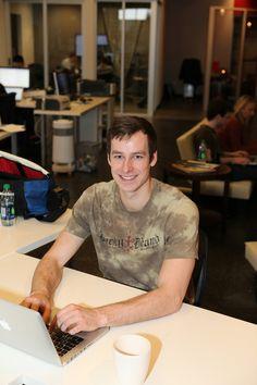 Web developer Mike Lyons shows off a stellar smile.