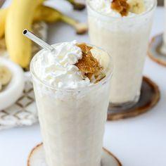 Caramelized Banana Bourbon Milkshakes