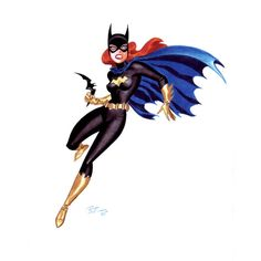Batgirl//Pinups - color/DC/Bruce Timm/ Comic Art Community GALLERY OF... ❤ liked on Polyvore