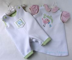 Cute brother/sister outfit for when Big Sister went to meet baby brother.