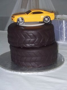 Or! Oh what about this! Simpler tire cake and then purchase a model car of Matt's favorite Pagani Zonda...might be cool. Car Cakes, Car Grooms Cake, Cake Design, Sport Cars, Groom Cake, Chocolate Cakes, Boy Birthday Parties, Grooms Cake Car, Cake Toppers