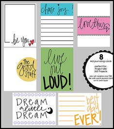 Free journal cards.