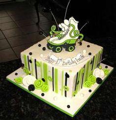 Green skate cake
