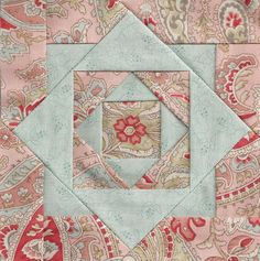Quilt block I like the colors as well as the layout of block.