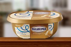 "Sweet, rich, creamy white chocolate blended with equally irresistible Philadelphia for a spread, dip or spoonful of ""Mmm."""