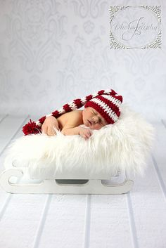 Ravelry: Candy Cane Elf Hat pattern by Crystal Adkins Heavenly Crochet Photo Props