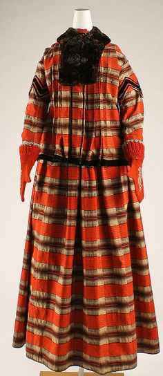 Skating ensembleca. 1868 Culture: American Medium: wool, fur