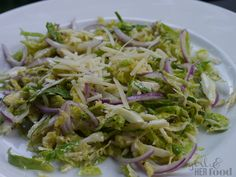 shaved brussels sprouts cesar salad http://www.agirlandherfood.com/2013/09/shaved-brussels-sprouts-cesar-salad.html