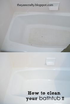 They Are Crafty: How to get your bathtub clean