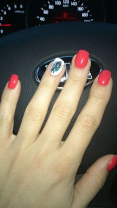 Summer red nail design 2014