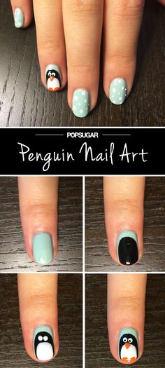 This is the most adorable nail art!