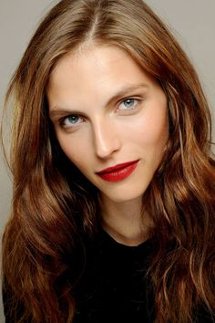 Retro Red - fall makeup trends.