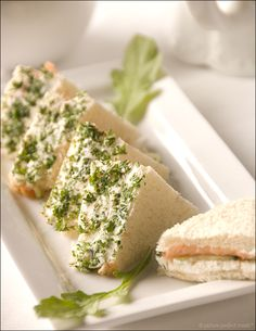 Herb-Crusted Smoked Salmon Tea Sandwiches
