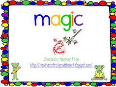 Love this activity...have introduced    Magic silent e to one group of my kinders so this will make a great center for that group during ELG time.