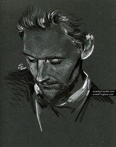 fan art, tom hiddleston drawing