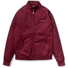 Carhartt WIP Rude Jacket in Maroon