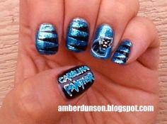 Carolina Panthers Nails