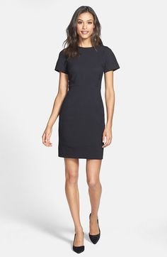 Halogen® Colorblock Mixed Media Sheath Dress (Regular & Petite) (Online Only) available at #Nordstrom