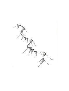 Outline mountain tattoos for Blue ridge mountain tattoo