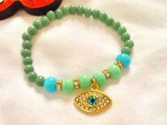 SALE GYPSY AMULET Bracelet Evil Eye jewelry Middle by Nezihe1, $18.00
