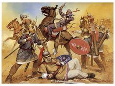 Romans vs Sassanid Persians 3rd century AD/CE by Angus McBride