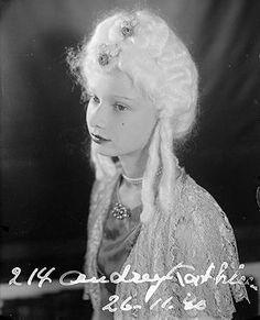 audrey darl, costumes, 1940 portrait, audrey hepburn, young girl