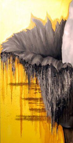 """Saatchi Online Artist: rachel cohen; Oil, Painting """"flower 1"""""""
