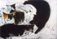 Studies of Fred    etching   Elizabeth Blackadder