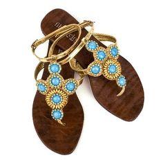 Fibi + Clo // Turquoise Sun // Sandals // $45