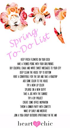 spring to-do list | heart of chic
