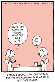 Drama - loving cartoon
