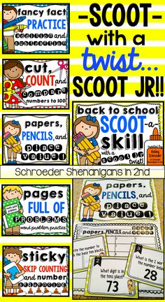 5 sets of scoot and 5 sets of SCOOT JR! A new twist on scoot that allows for differentiation, reteaching, reinforced practice, and SCOOTING at their seat!
