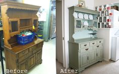 repaint old furniture. remember to look at furniture with an eye to what it could be