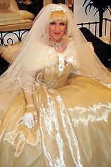 Cross dressing service bride in cream wedding dress