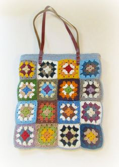 DIY ~ Making a Granny Square Tote