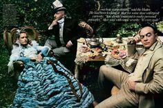 Alice in Wonderland photo shoot for Vogue  by Annie Leibovitz