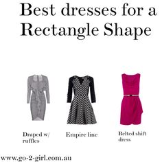 """""""Best dresses for a Rectangle Shape"""" by go-2-girl on Polyvore"""