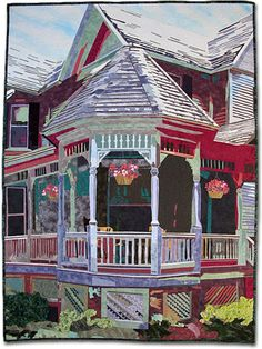 """""""Time for Tea on the Veranda"""", 31 ½"""" x 41 ¼"""",  by Marcia Eygabroat 