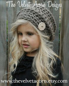 Crochet PATTERNThe Devlyn Hat Toddler Child and by Thevelvetacorn, $5.50