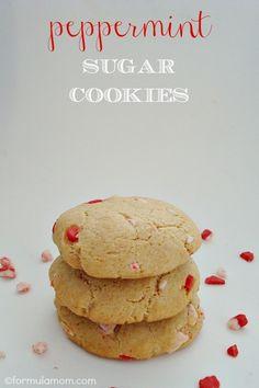 Peppermint Sugar Cookies #Christmas #cookies