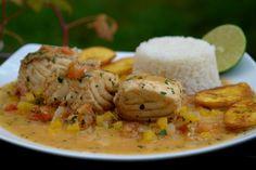 Ecuadorian dish that Jorge loves... Fish w/ coconut sauce.