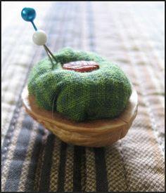 Art Education Daily: craft project: walnut pincushion