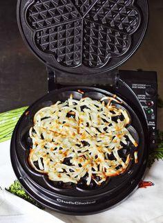 Waffle-iron hash browns