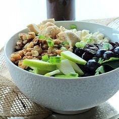 Chicken Feta Walnut Grape Salad