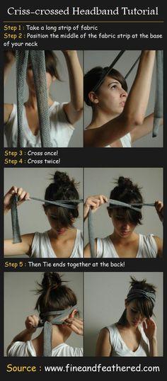 Criss-crossed Headband Tutorial